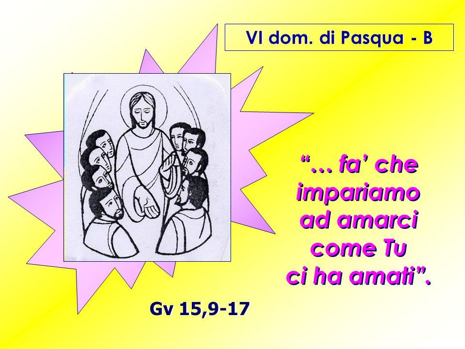 Signore Gesù Cristo, ti ringraziamo per la cura attenta con la quale hai istruito i tuoi discepoli e con la quale oggi istruisci noi.