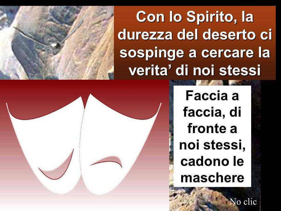 Mc 1,12-15 In quel tempo, lo Spirito sospinse Gesù nel deserto, Nel Deserto con Gesù