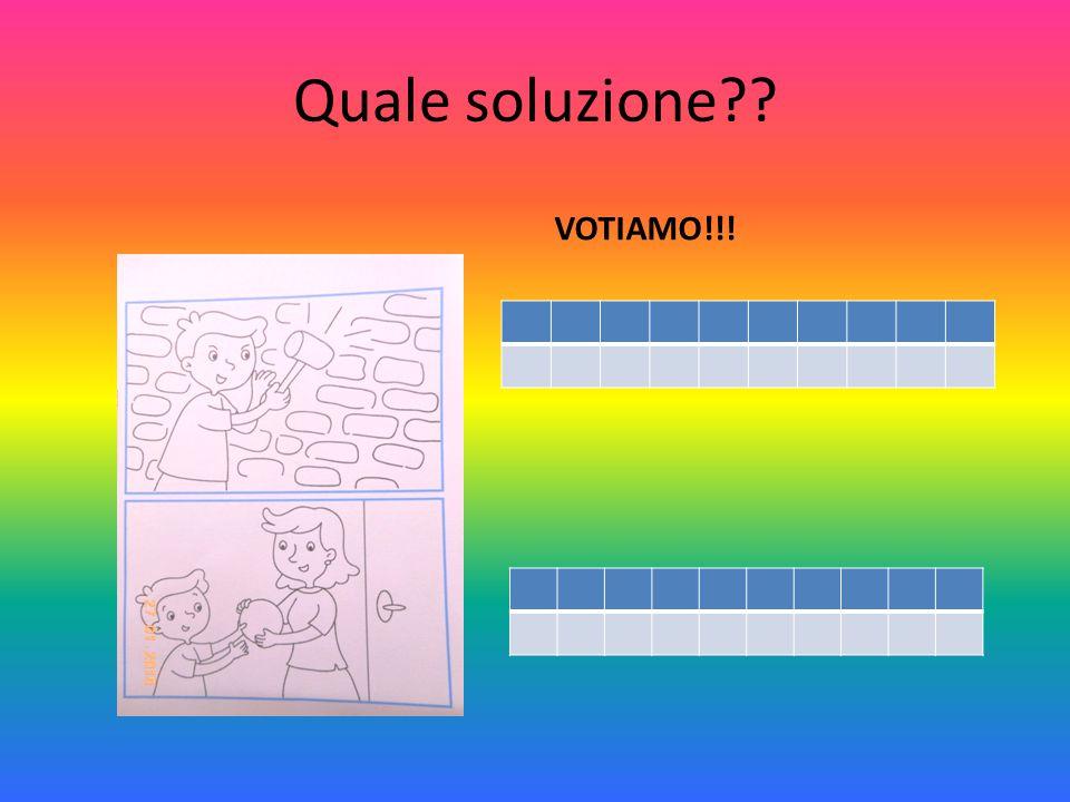 Quale soluzione?? VOTIAMO!!!