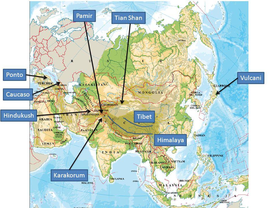 Himalaya Tibet Ponto Caucaso Hindukush Pamir Tian Shan Karakorum Vulcani