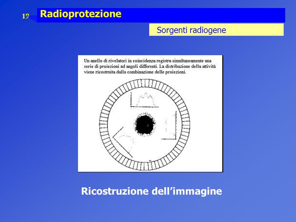 19 Radioprotezione Sorgenti radiogene Ricostruzione dell'immagine