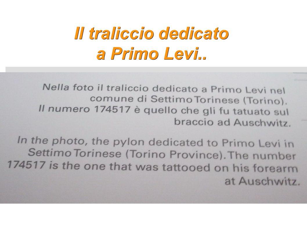 Il traliccio dedicato a Primo Levi..