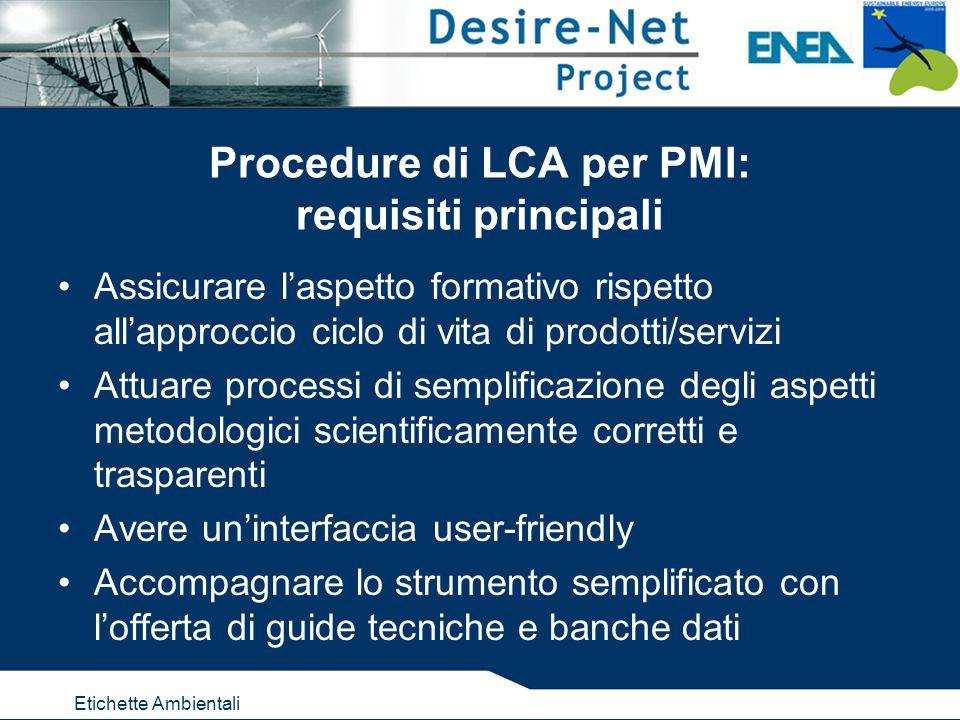 Etichette Ambientali Terzo passo della procedura: analisi dei risultati