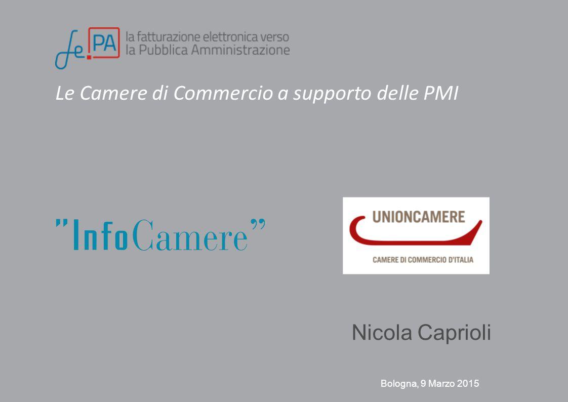 Le Camere di Commercio a supporto delle PMI Bologna, 9 Marzo 2015 Nicola Caprioli