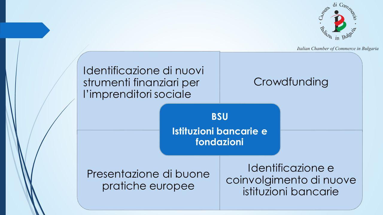 Identificazione di nuovi strumenti finanziari per l'imprenditori sociale Crowdfunding Presentazione di buone pratiche europee Identificazione e coinvo