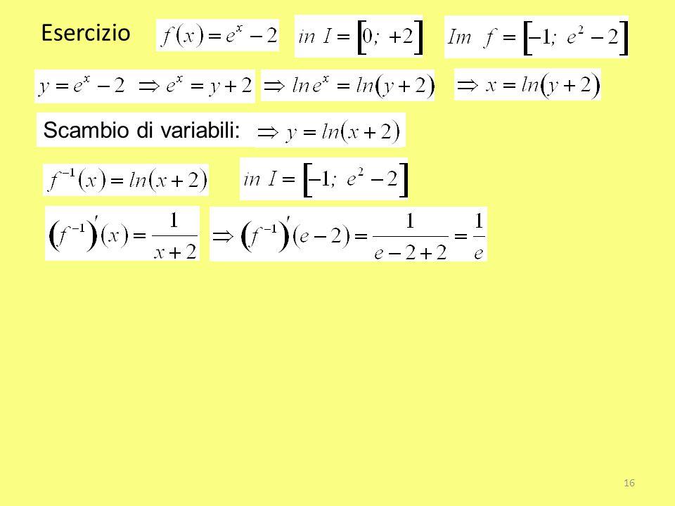 Esercizio Scambio di variabili: 16