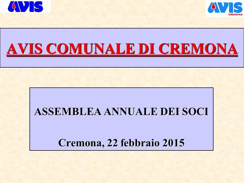 AVIS COMUNALE DI CREMONA RELAZIONE ASSOCIATIVA ANNO 2014
