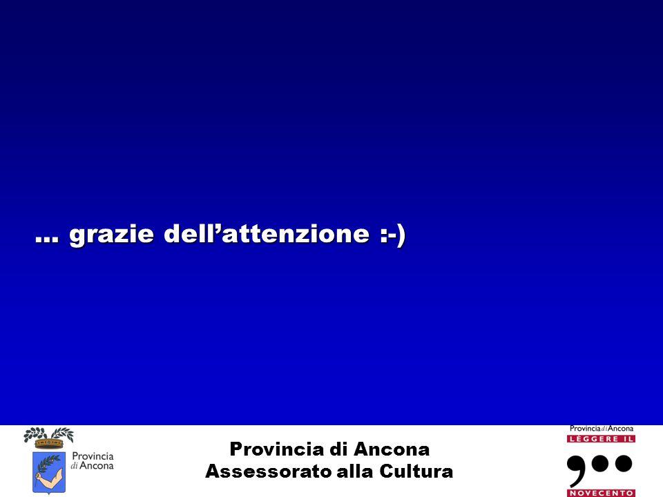 Provincia di Ancona Assessorato alla Cultura... grazie dell'attenzione :-)