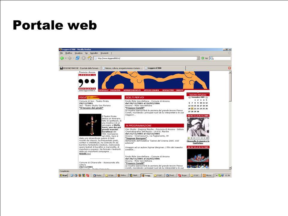 Provincia di Ancona Assessorato alla Cultura Portale web