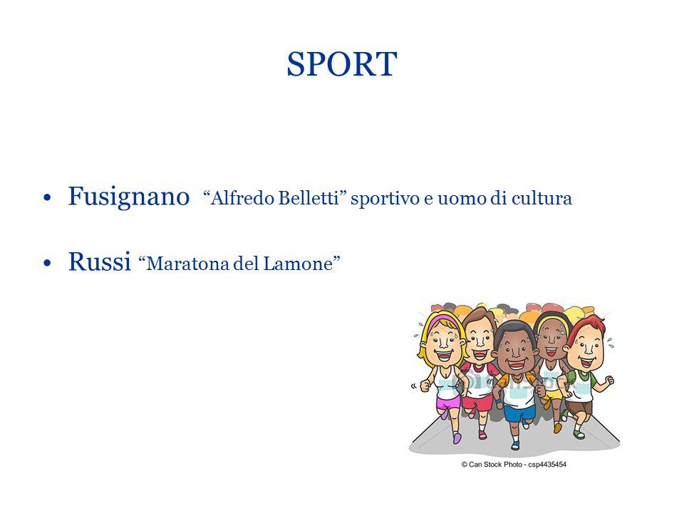 """SPORT Fusignano """"Alfredo Belletti"""" sportivo e uomo di cultura Russi """"Maratona del Lamone"""""""