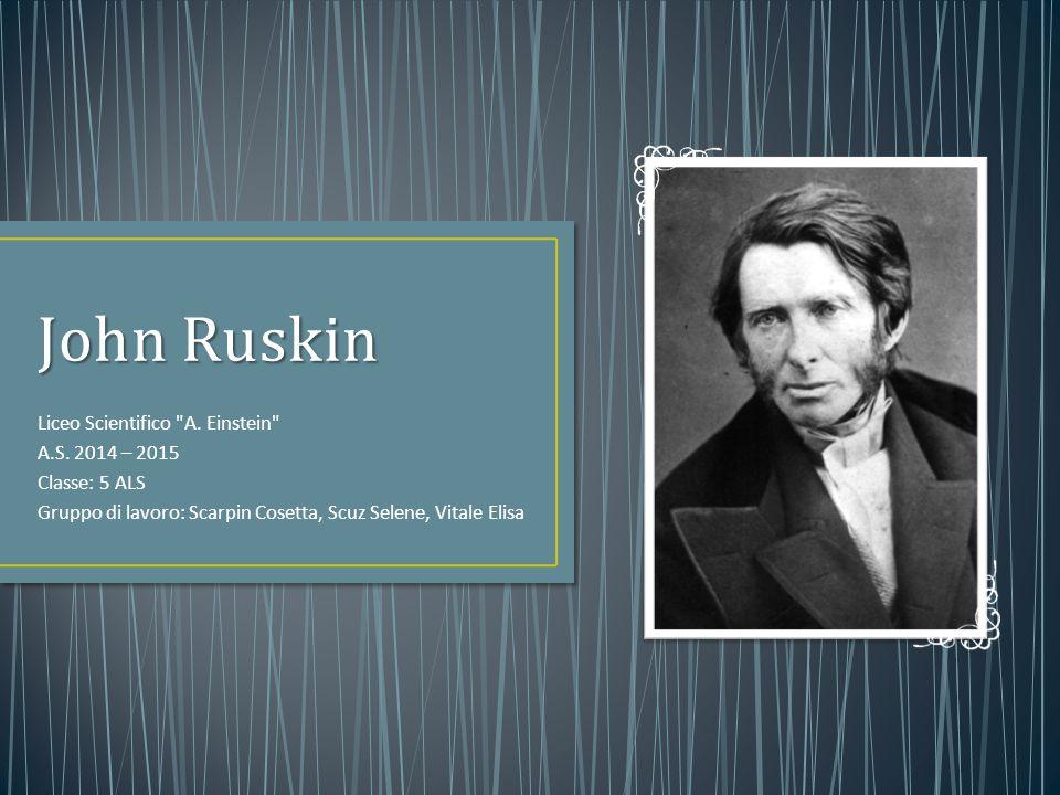 The seven lamps of architecture (1849): L'opera promuoveva i valori di un Gotico Protestante: sfida all'influenza cattolica di Pugin; Ruskin non era d'accordo con la Restaurazione: le opere antiche andavano preservate, non rovinate.