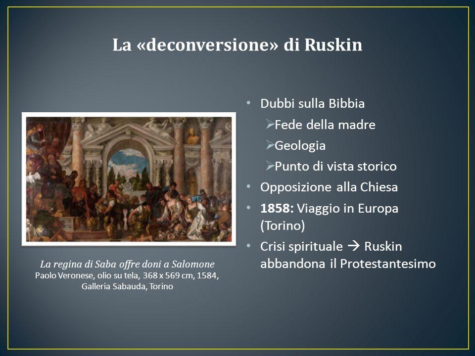 Dubbi sulla Bibbia  Fede della madre  Geologia  Punto di vista storico Opposizione alla Chiesa 1858: Viaggio in Europa (Torino) Crisi spirituale 