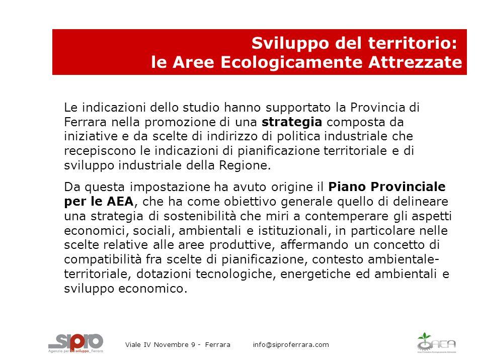 Le indicazioni dello studio hanno supportato la Provincia di Ferrara nella promozione di una strategia composta da iniziative e da scelte di indirizzo di politica industriale che recepiscono le indicazioni di pianificazione territoriale e di sviluppo industriale della Regione.