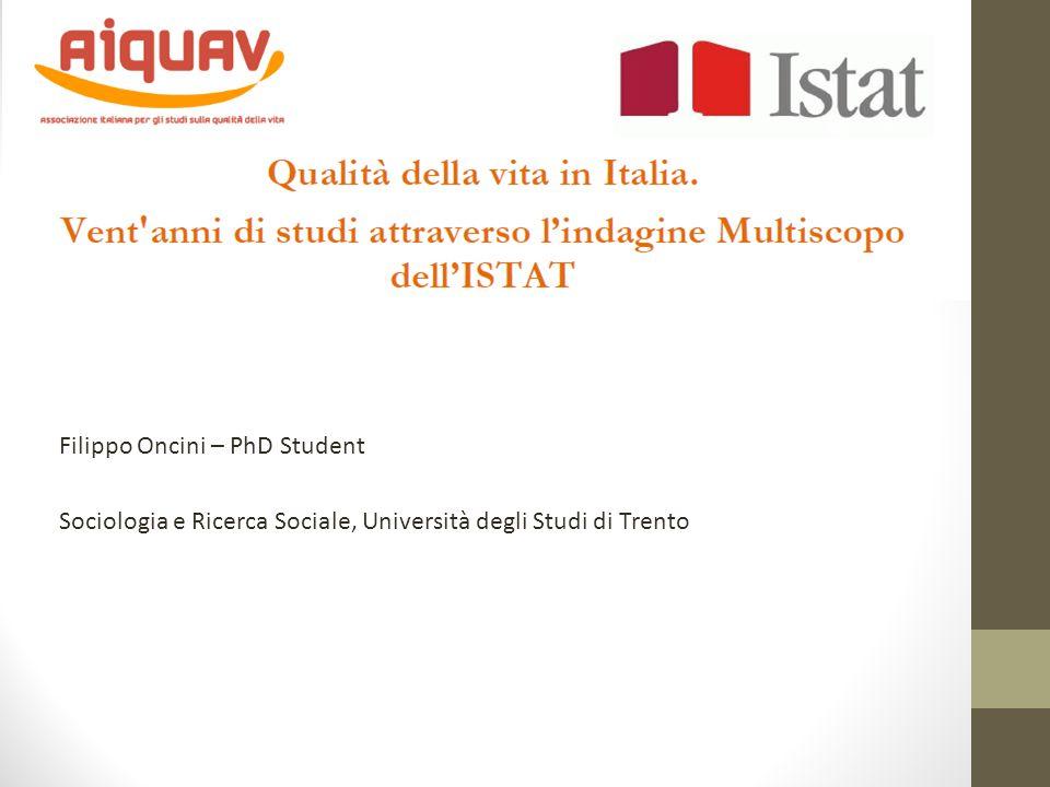 Filippo Oncini – PhD Student Sociologia e Ricerca Sociale, Università degli Studi di Trento