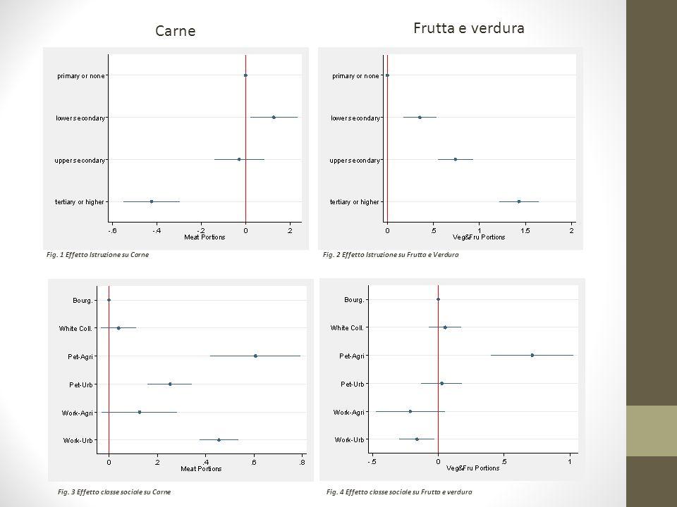 Carne Frutta e verdura Fig. 1 Effetto Istruzione su CarneFig.