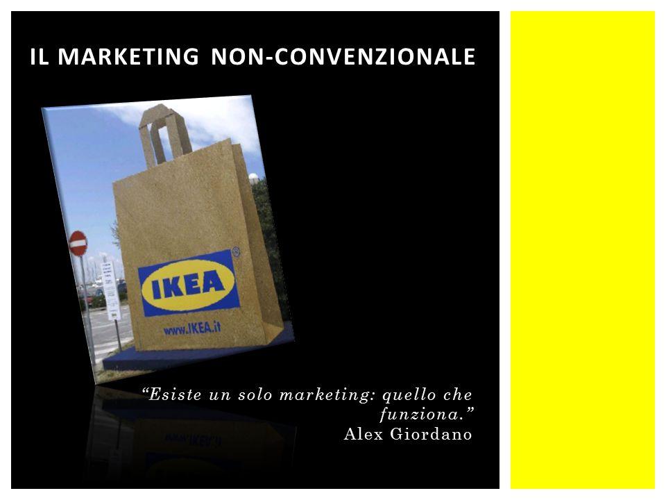 Esiste un solo marketing: quello che funziona. Alex Giordano IL MARKETING NON-CONVENZIONALE