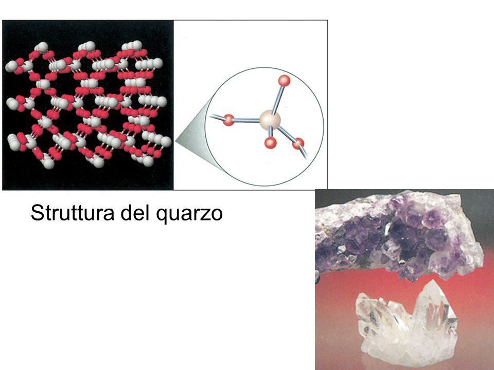 Struttura cristallina del quarzo Struttura del quarzo