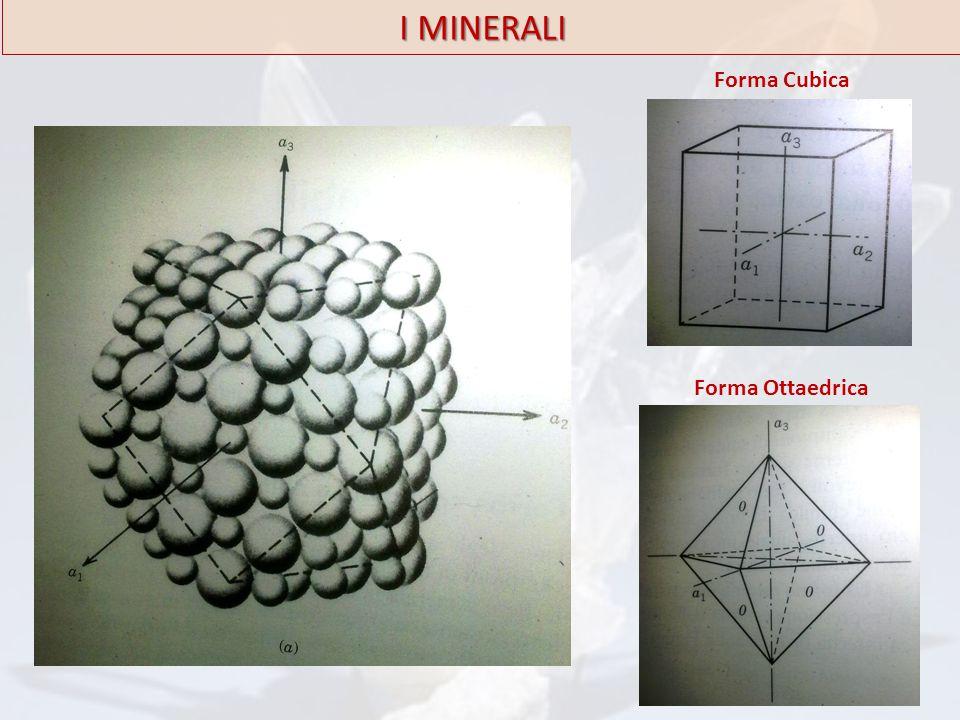 I MINERALI Forma Cubica Forma Ottaedrica