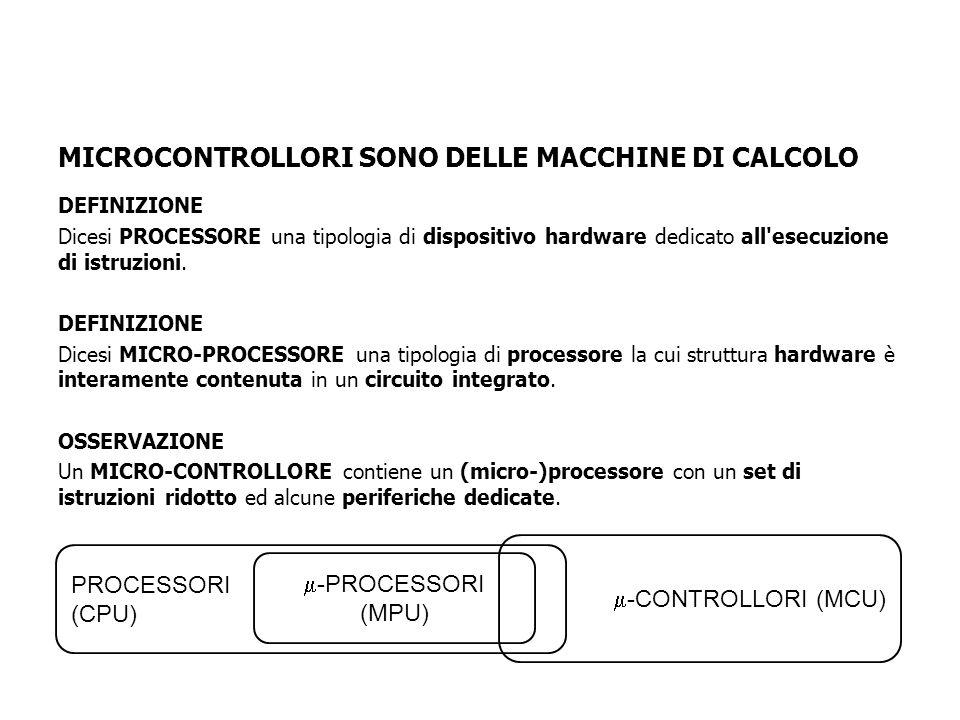DEFINIZIONE Dicesi PROCESSORE una tipologia di dispositivo hardware dedicato all esecuzione di istruzioni.