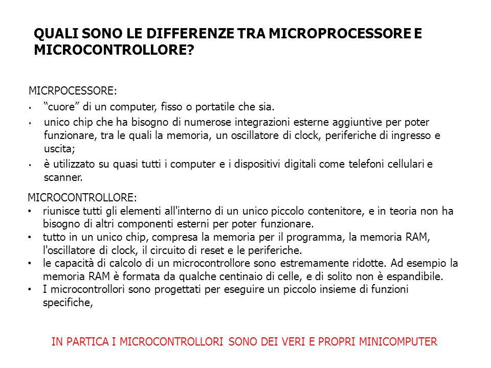 MICRPOCESSORE: cuore di un computer, fisso o portatile che sia.