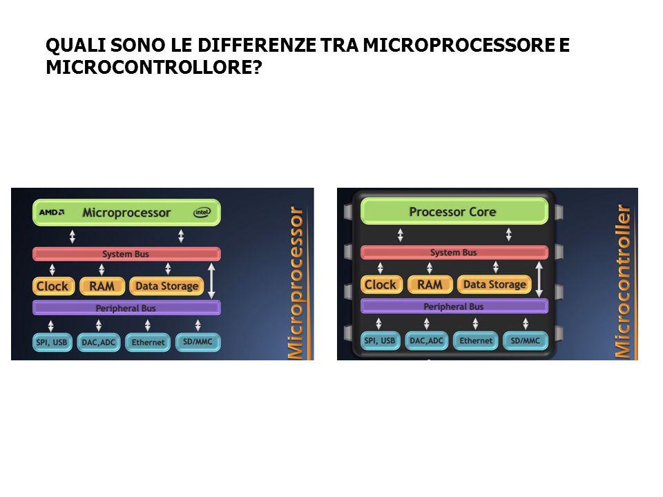 QUALI SONO LE DIFFERENZE TRA MICROPROCESSORE E MICROCONTROLLORE?
