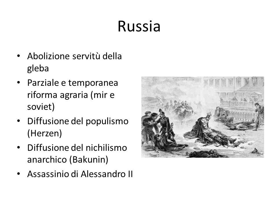 Russia: 1905 Insurrezioni di contadini operai e marinai Dura repressione Episodio del porto di Odessa (film La corazzata Potemkin di Eisenstein) Concessione di un Parlamento elettivo (Duma)