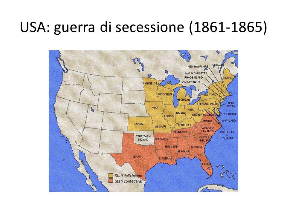 USA: guerra di secessione (1861-1865)