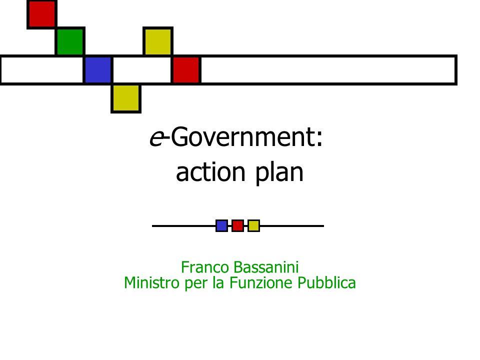 e-Government: action plan Franco Bassanini Ministro per la Funzione Pubblica