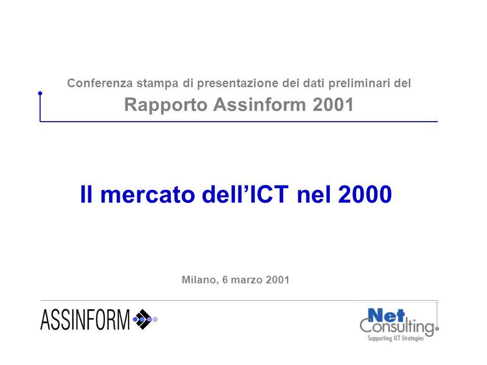 Conferenza stampa di presentazione dei dati preliminari del Rapporto Assinform 2001 Il mercato dell'ICT nel 2000 Milano, 6 marzo 2001
