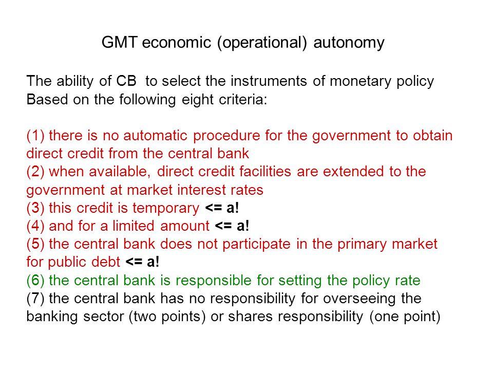 4 L'indipendenza delle banche centrali a partire dalla fine degli anni Ottanta