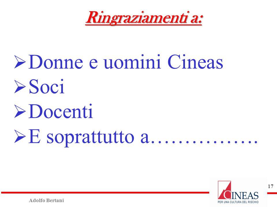 Adolfo Bertani 16 Ringraziamenti per patrocini ASSOCIAZIONE ITALIANA PERITI LIQUIDATORI ASSICURATIVI INCENDIO E RISCHI DIVERSI