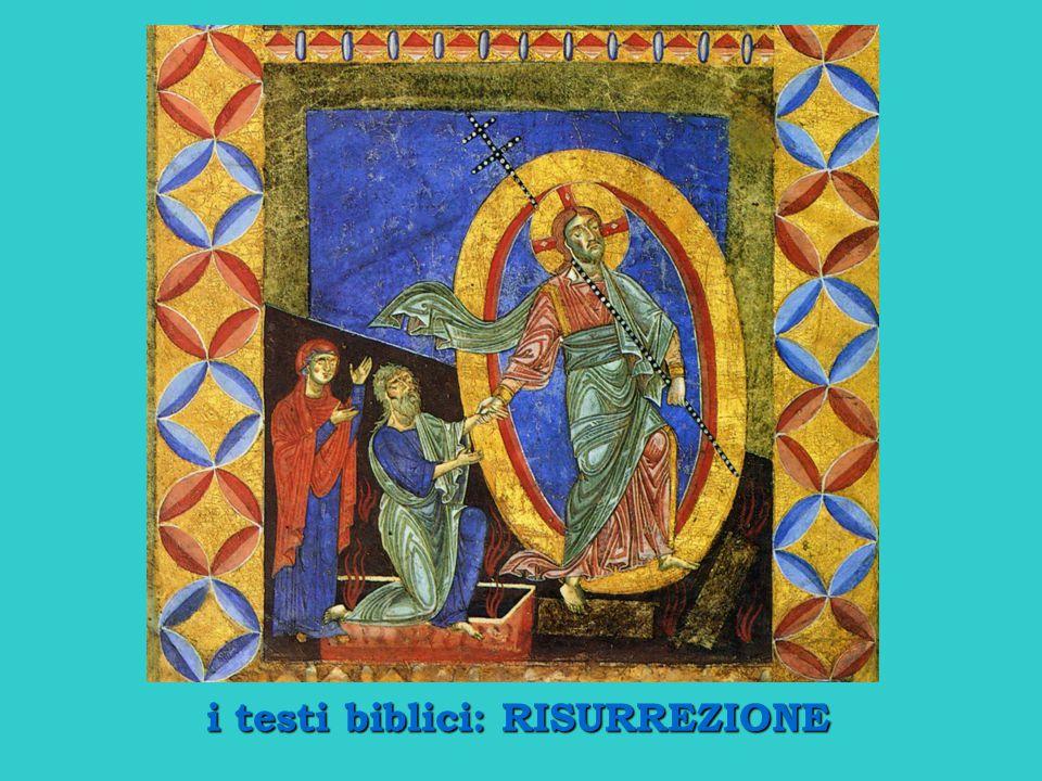 i testi biblici: RISURREZIONE
