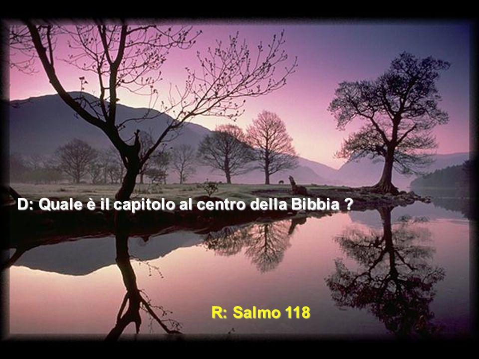 Fatti: Ci sono 594 capitoli prima del Salmo 118.Ci sono 594 capitoli dopo il Salmo 118.