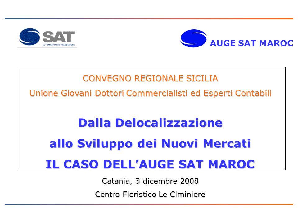PROGETTO ONE COMPANY Il Gruppo SAT Facts and Figures: 3 Siti Produttivi 250 Dipendenti 40 Mil.