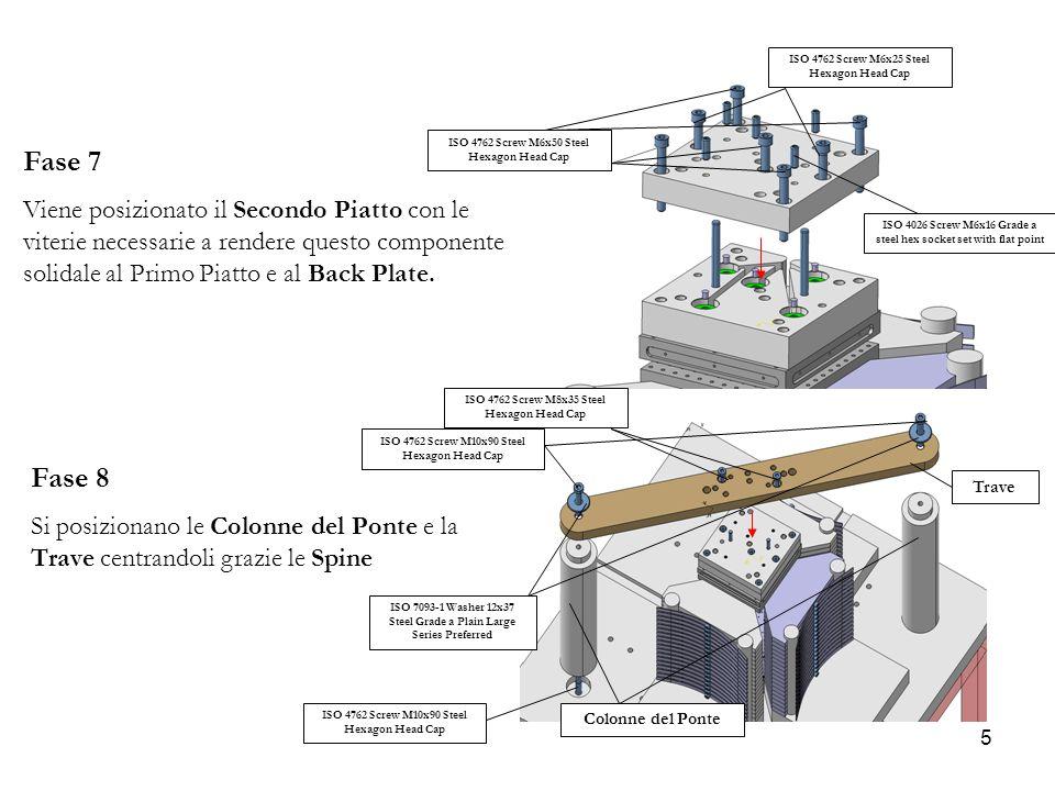 5 Fase 7 Viene posizionato il Secondo Piatto con le viterie necessarie a rendere questo componente solidale al Primo Piatto e al Back Plate. Fase 8 Si