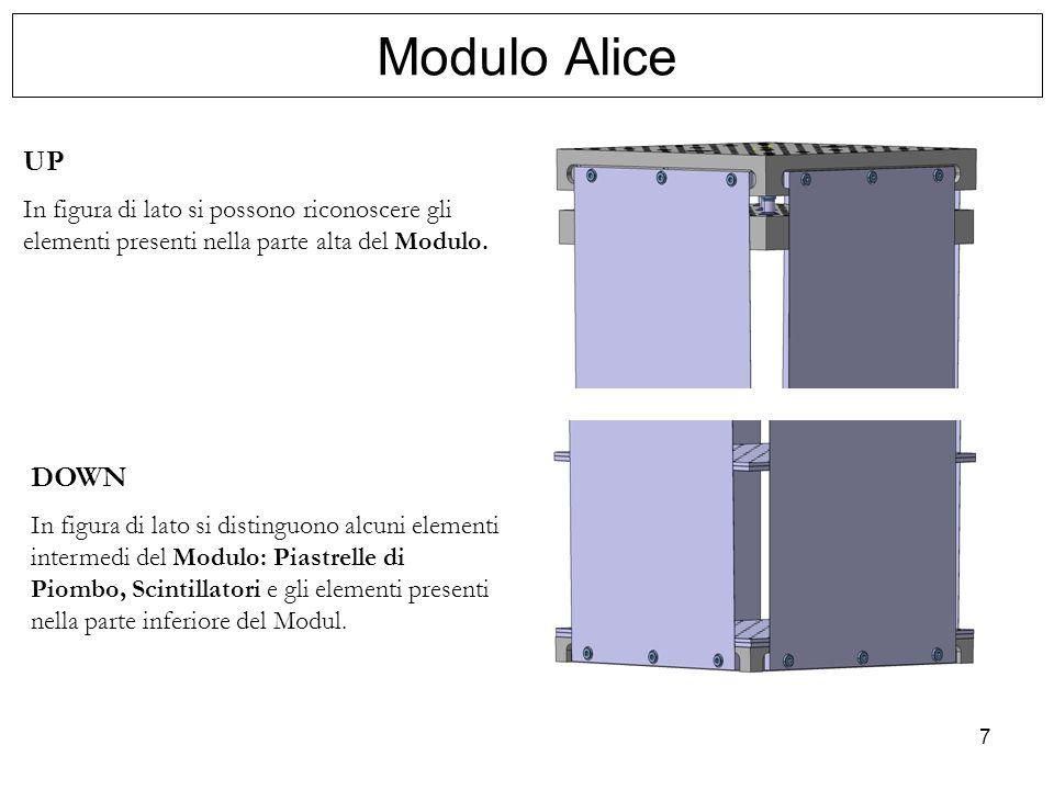 7 UP In figura di lato si possono riconoscere gli elementi presenti nella parte alta del Modulo. DOWN In figura di lato si distinguono alcuni elementi
