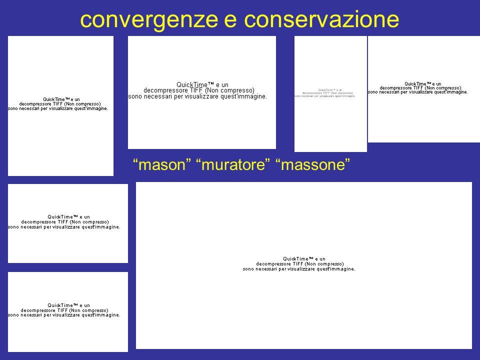 convergenze e conservazione mason muratore massone