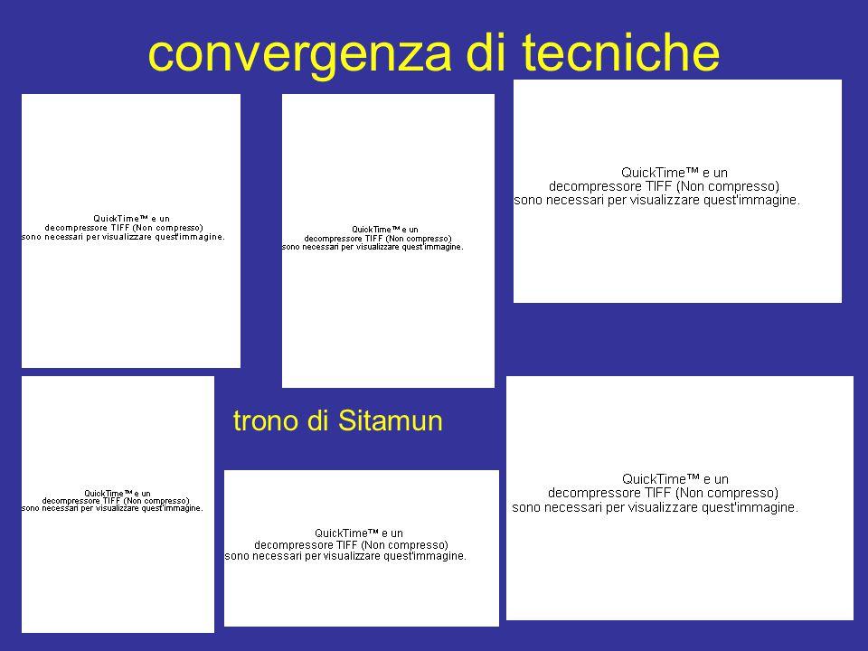 convergenza di tecniche trono di Sitamun