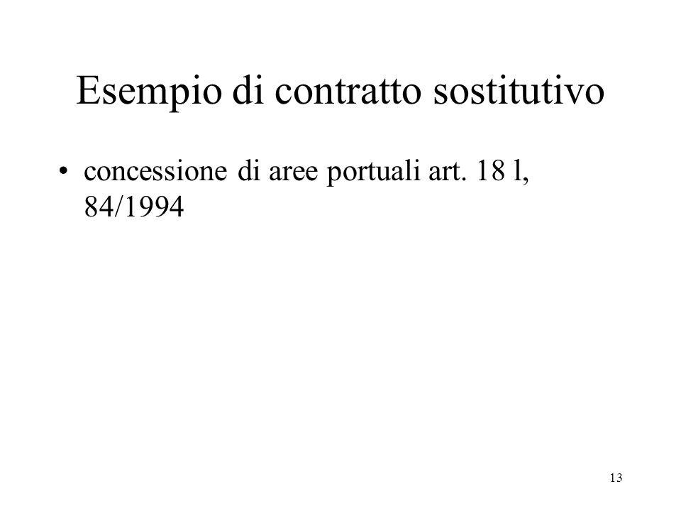 13 Esempio di contratto sostitutivo concessione di aree portuali art. 18 l, 84/1994