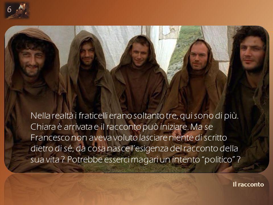 Il racconto Nella realtà i fraticelli erano soltanto tre, qui sono di più.