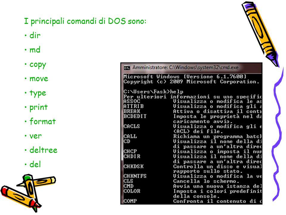 Il disco principale è sempre identificato con la lettera C. L'unità floppy, invece, è identificata con le lettere A o B. Le altre periferiche sono ass