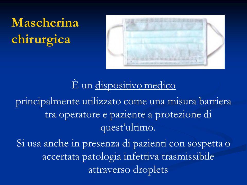 È un dispositivo medico principalmente utilizzato come una misura barriera tra operatore e paziente a protezione di quest'ultimo. Si usa anche in pres