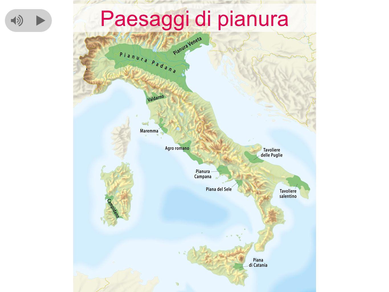 Nel nord della nostra penisola si trova la zona pianeggiante più estesa: è la Pianura Padana, formata dal fiume Po e dai suoi affluenti.