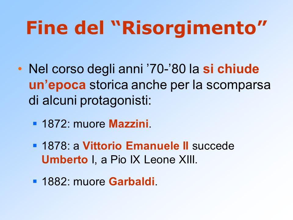 L'età giolittiana Il nuovo re, Vittorio Emanuele III (1900- 1946) rinuncia alla repressione e chiama al governo il liberale di sinistra Zanardelli.