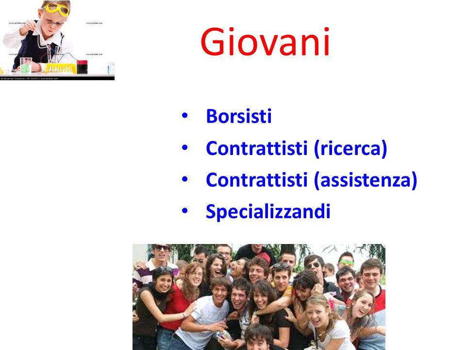Borsisti Contrattisti (ricerca) Contrattisti (assistenza) Specializzandi Giovani