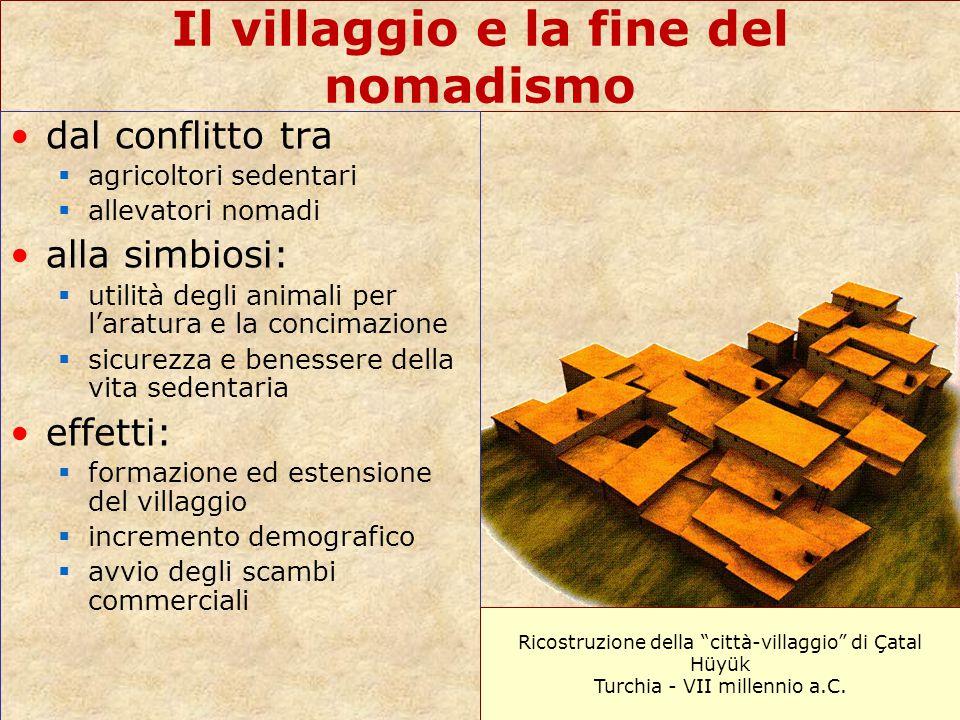 Il villaggio e la fine del nomadismo dal conflitto tra  agricoltori sedentari  allevatori nomadi alla simbiosi:  utilità degli animali per l'aratur