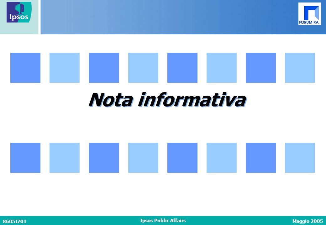 Maggio 2005 8605IZ01 Ipsos Public Affairs Nota informativa