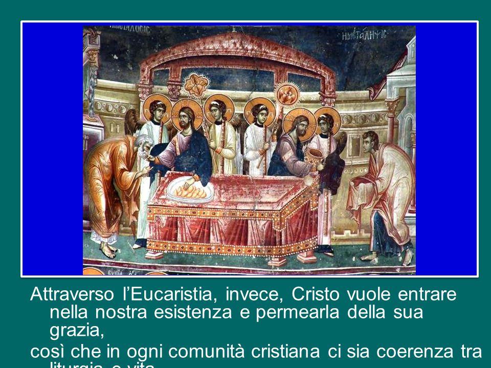 Questo significa che la missione e l'identità stessa della Chiesa sgorgano da lì, dall'Eucaristia, e lì sempre prendono forma.