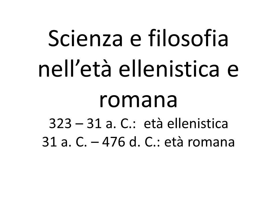 Astronomia Partendo dalle difficoltà del modello geocentrico, Aristarco di Samo (310-230 ca) propone un modello eliocentrico che anticipa Copernico (1473-1543) La sua proposta non avrà successo e si imporrà definitivamente il modello geocentrico con Claudio Tolomeo (100-175 circa)