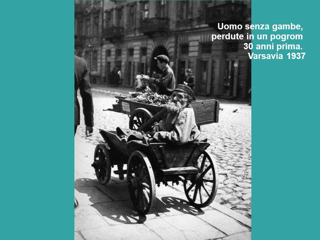 Uomo senza gambe, perdute in un pogrom 30 anni prima. Varsavia 1937
